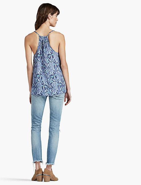 STRAPPY PAISLEY TANK,