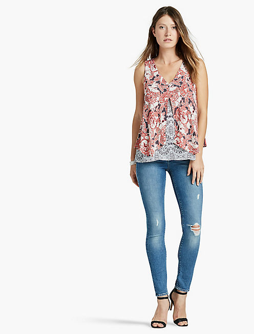 Lucky Floral Double Layer Tank