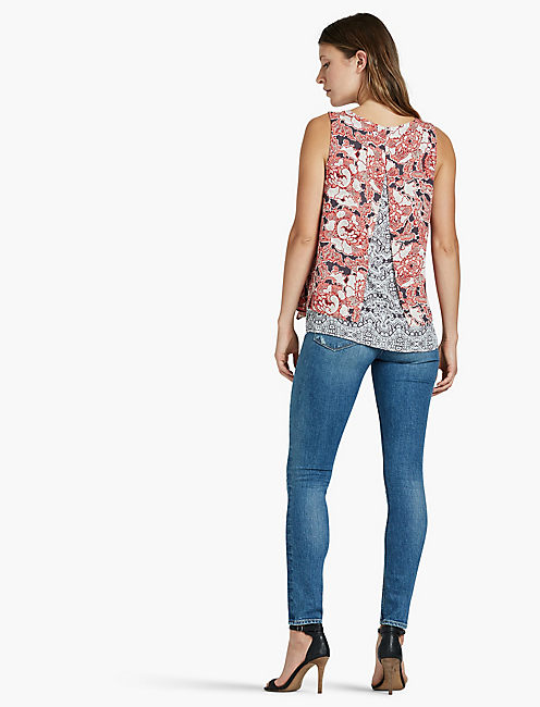 FLORAL DOUBLE LAYER TANK,