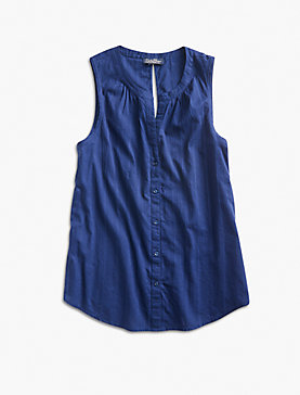 SOLID V BUTTON UP TANK