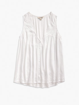 SCALLOP EMBROIDERED TANK