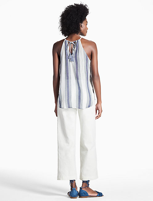 EMBROIDERED STRIPE TANK,