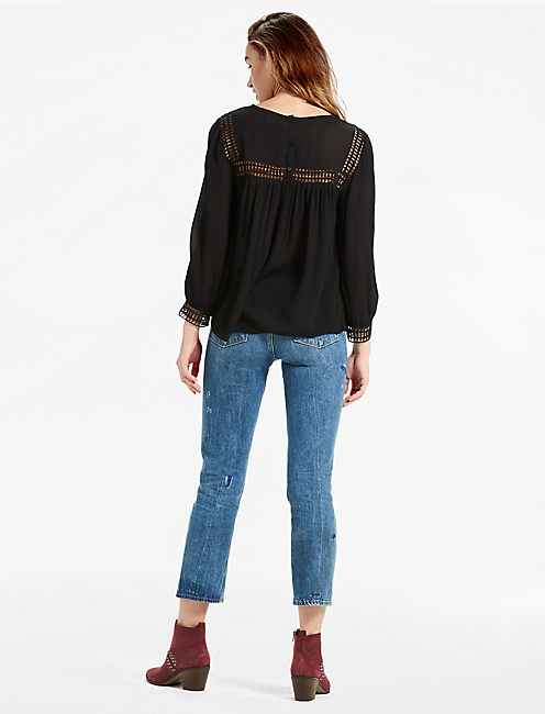 GEO LACE INSERT TOP,