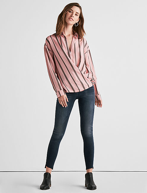 Lucky Long Sleeve Stripe Button Down Shirt