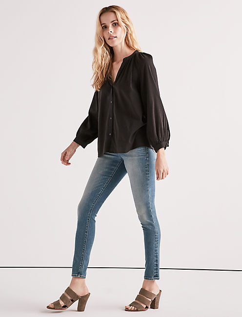 Lucky Solid Poet Blouse