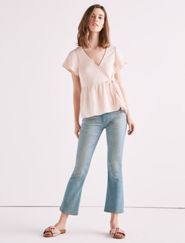 Lucky Gauze Wrap Top