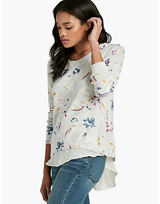 LUCKY FLORAL PRINTED SWEATER