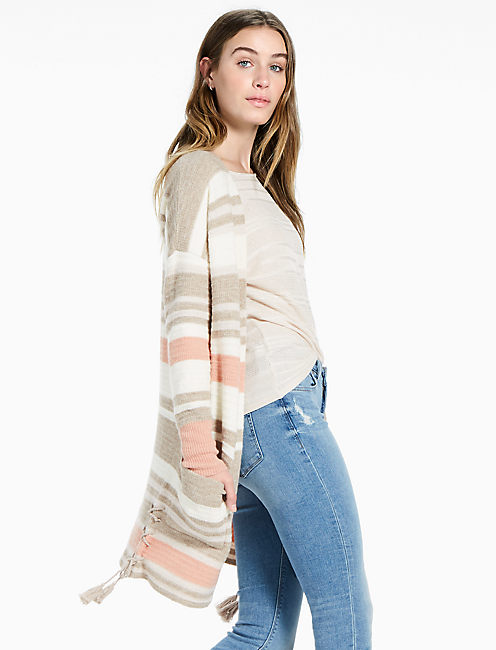 STRIPE CARDIGAN, NATURAL MULTI