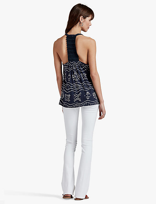Lucky Geo Crochet Back Tank