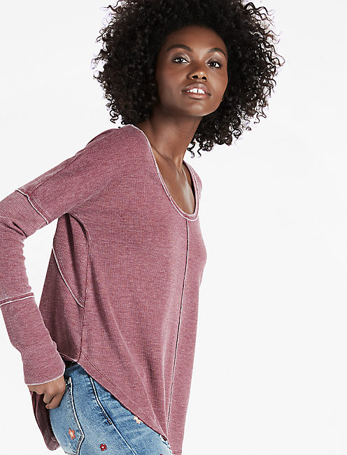 SCOOP NECK THERMAL, #6729 TAWNY PORT