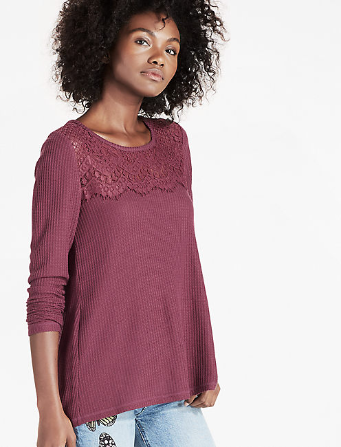 LACE MIXED THERMAL, port royale