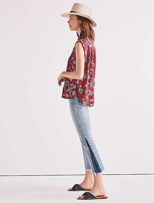 Lucky Lace Up Printed Top