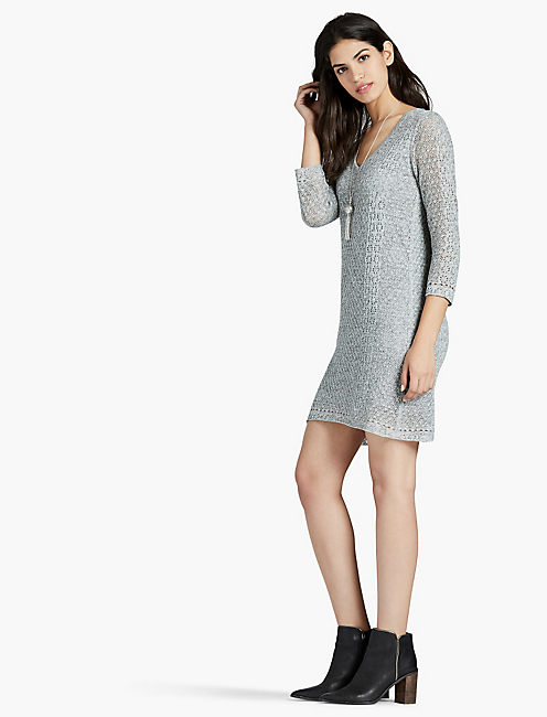 LUCKY LAYER SWEATER DRESS