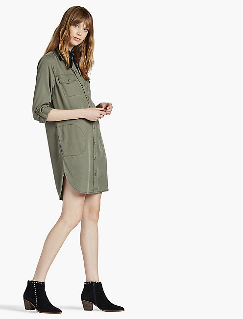 LUCKY TENCEL SHIRTDRESS