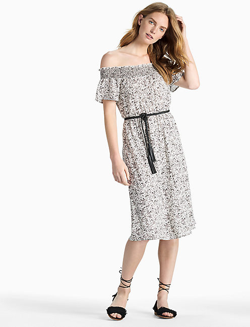 Lucky Off Shoulder Smock Dress