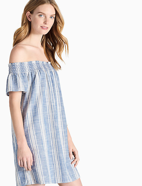 TENCEL OFF SHOULDER DRESS,