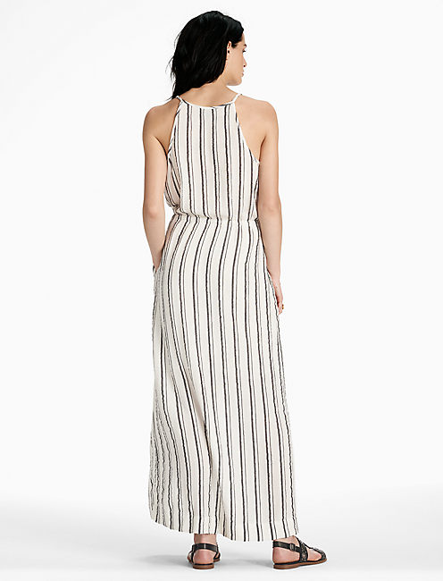STRIPED MAXI DRESS,
