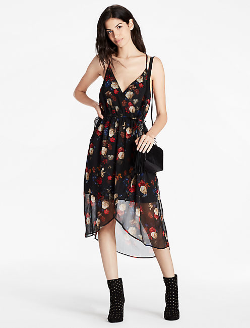 Lucky Floral Wrap Dress