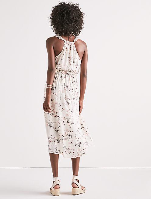 FLORAL WRAP DRESS,