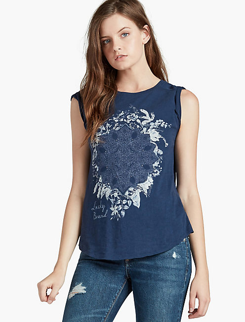 LUCKY FLORAL TEE,