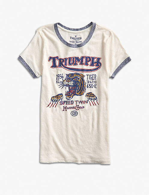 TRIUMPH TIGER TEE, EGGSHELL