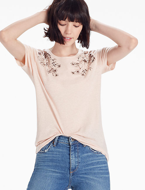 TWO ROSES TEE, #6489 PEACH WHIP #14-1309