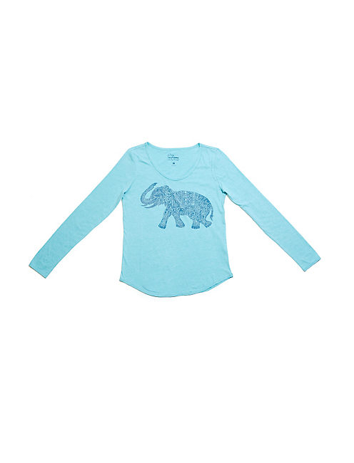 ELEPHANT PJ SET, BLUE MULTI