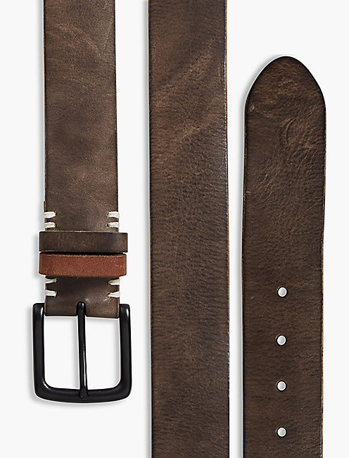TWO TONE KEEPER BELT, DARK OLIVE