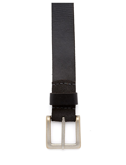 NEWHART LEATHER BELT, BLACK