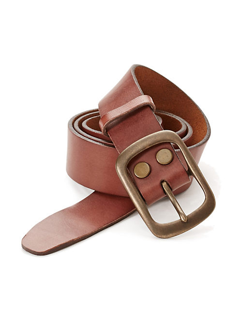 CENTER BAR BELT, MEDIUM BROWN