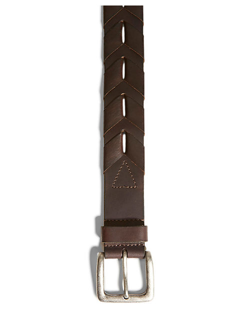 JOSHUA LACED BELT, DARK BROWN
