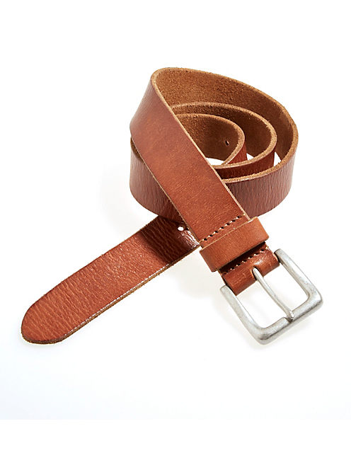 LA BREA LEATHER BELT, MEDIUM BROWN