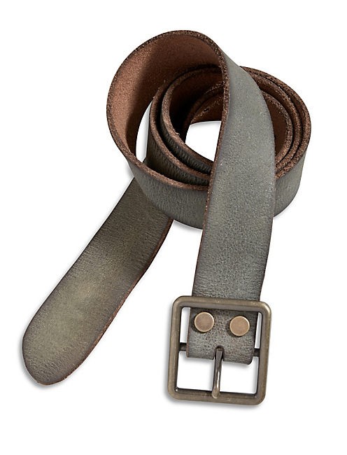 WASHED BROWN VINTAGE BELT,