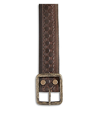 LUCKY HEXAGON EMBOSSED BELT