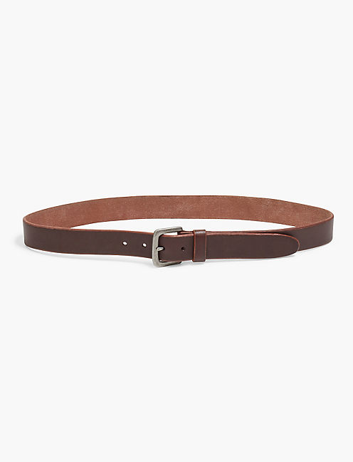 SANTA FE LEATHER BELT, MEDIUM BROWN