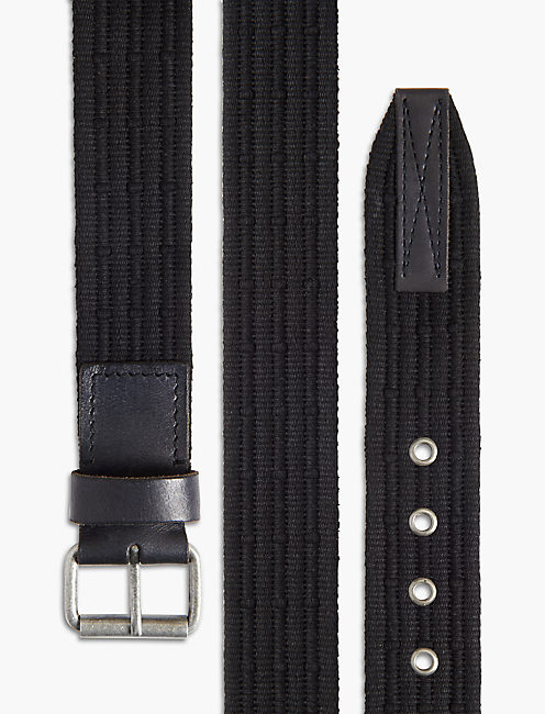 CROCKETT WEBBED BELT, BLACK