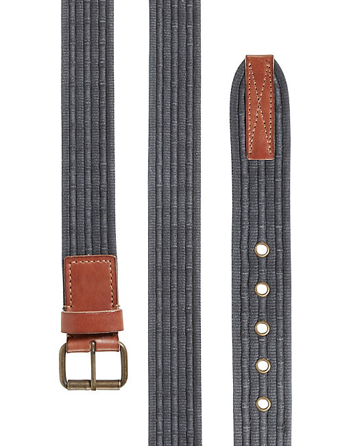 CROCKETT WEBBED BELT, DARK BLUE