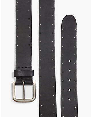 LUCKY STUDDED LEATHER BELT
