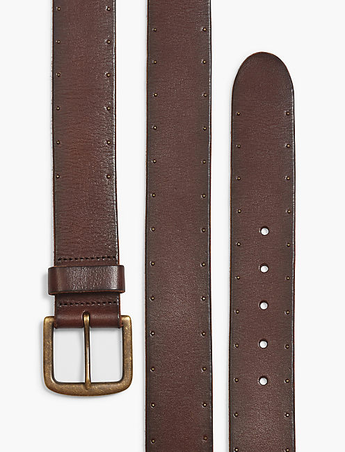 STUDDED LEATHER BELT,