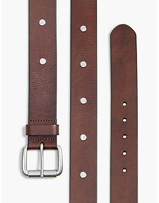 LUCKY HAMMERED STUD BELT