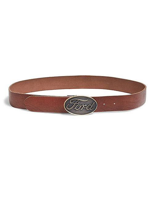 FORD BUCKLE BELT, TAN