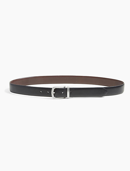 REVERSIBLE DRESS BELT, BROWN/BLACK
