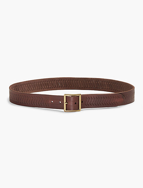 TEXTURED LEATHER BELT,