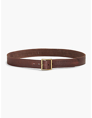 LUCKY TEXTURED LEATHER BELT