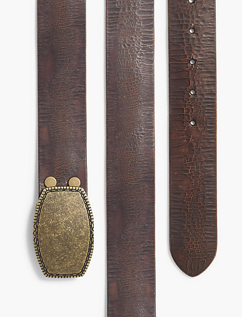 LUCKY CRACKLED LEATHER BELT