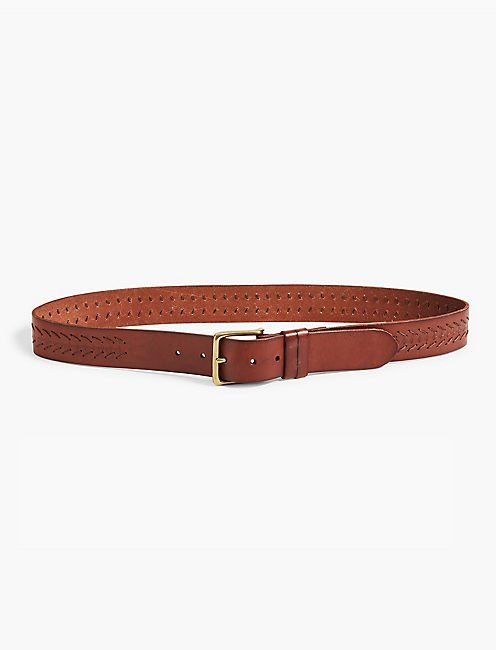 CHEVRON LACING BELT, BROWN