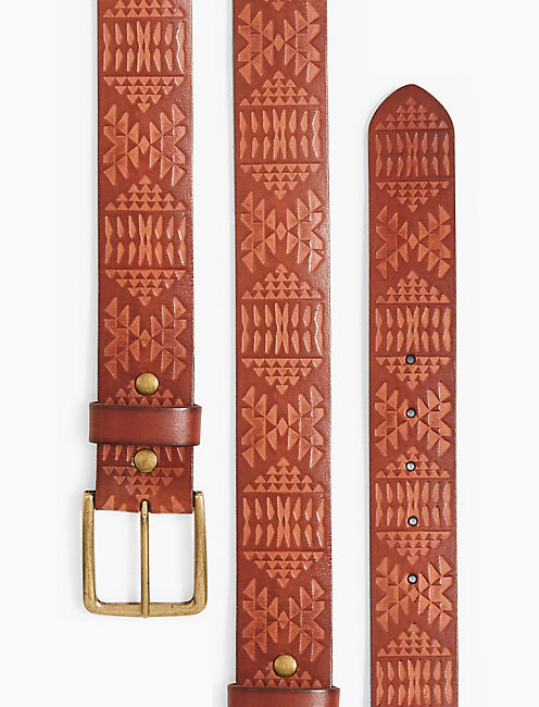 LUCKY PENDLETON EMBOSSED BELT