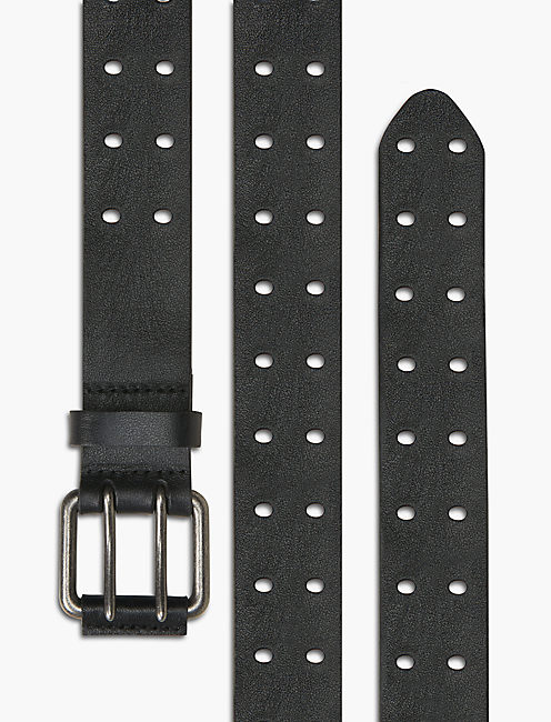 MULTI PUNCH HOLE BELT, BLACK