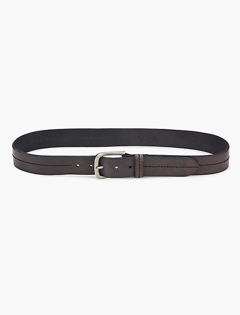 STITCHED GROMMET BELT, BLACK