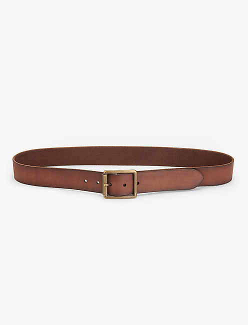 MONTANA DISTRESSED BELT, CHOCOLATE